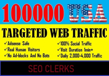 I will provide real visitors through organic search traffic for your website,blog