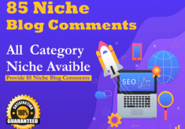 do provide 85 niche relevant blog comment back-links
