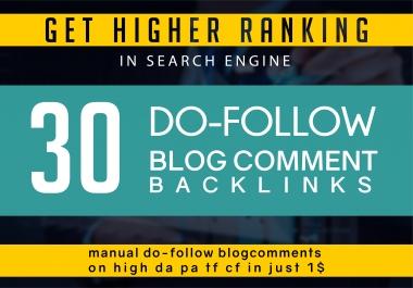 Create 30 Unique Domain Blog Comments Dofollow Link Low Obl Less Than 15 High Da Pa
