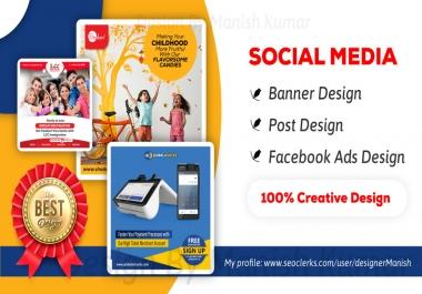 Creative Social Media Post, Banner, Profile Design (Bulk Order)
