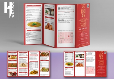 Professional Menu for your Restaurant/Cafe