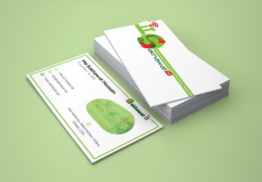 3 two-sided professional business card designs