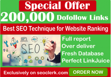 I will do 200,000 GSA SER Dofollow Backlinks