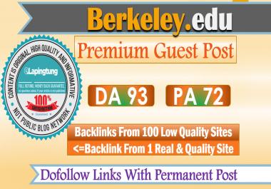 Publish Guest Post on UC Berkeley. Berkeley.edu - DA 93