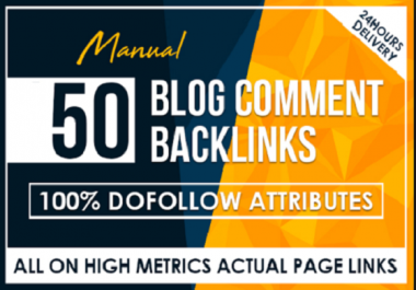 50 dofollow blogcomment 24 hours delivery