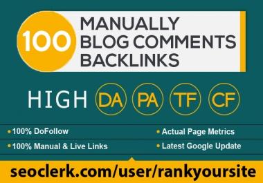 provide 100 dofollow blog comment seo backlinks