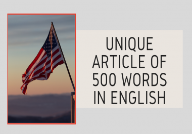 I will write a unique and optimized SEO article in English