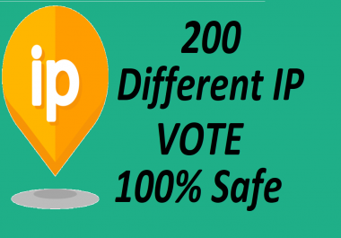 Get you 200 targeted ip votes on your online poll voting contest