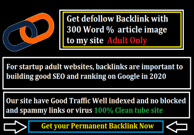 Get Permanent Backlink to Popular Adult tube site with short article