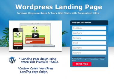 Create Beautiful Landing Page in WordPress