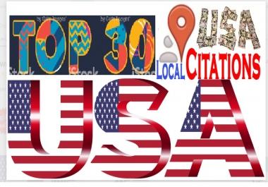 Do 30 USA Local Citations For Your Business