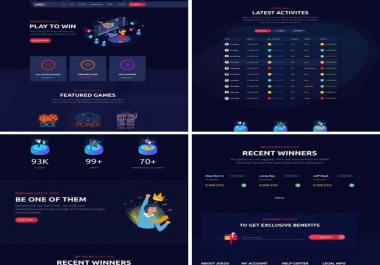 i Will build/develop Cryptocurrency Gaming Website HTML