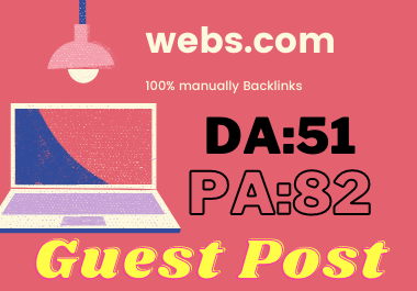 Publish Guest Post On webs. com Do-Follow and Permanent Backlinks