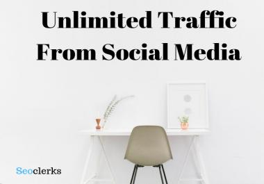 Unlimited Traffic From social media