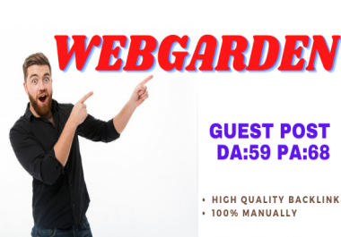 Publish Guest Post On Webgarden Do-Follow and Permanent Backlinks