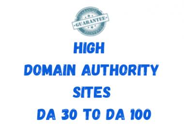 Permanent 10 Backlinks Domain Authority 30+ Do-Follow & No-Follow Mix Contextual