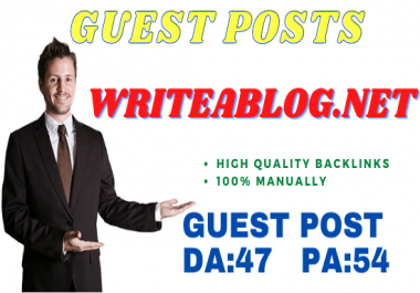 Publish Guest Post On Writeablog. net No-Follow Manually and Permanent Backlinks