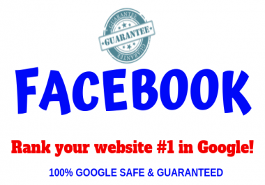 I will rank your facebook page in google 1st page High Domain Authority Seo Backlinks
