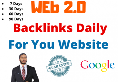 [ Work Daily ]- 20 Backlinks Daily - Web 2.0 blogs Very High indexer, 1000 Unique Article 7 Day+