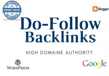 Create 20 Do-Follow Backlinks Very High Indexer DA50+ & DA30+