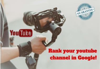 Boost your youtube Video in google with High DA Backlinks PR9 DA70+, DA50+,DA30+,Forum,web 2.0