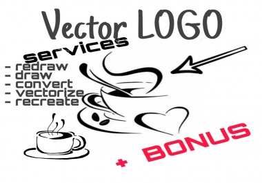 VECTOR services, Tag Cloud, Draw, Redraw, Create, Vectorize, Tracing, Banner