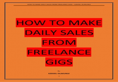 How rank your freelance gig to first page and start making sales daily