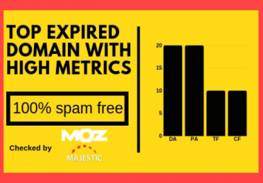 Give you 2 High Matrices expired domain with fresh backlinks
