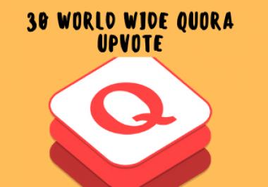 30 Quora up vote from 100% Unique account