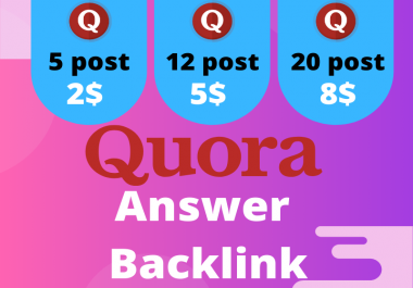 Promote your site with 12 High Quality Quora Answer