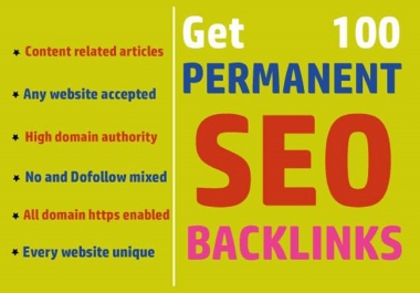 I will build high da 100 seo backlinks for improve google ranking