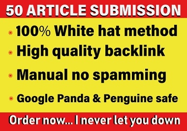 provide 60 dofollow article submission backlinks on high DA websites