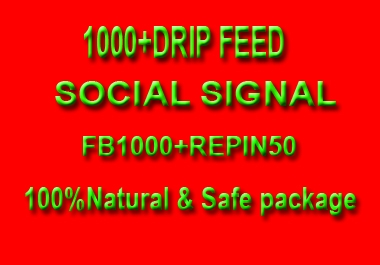 1000+ High quality Drip Feed Social Signal