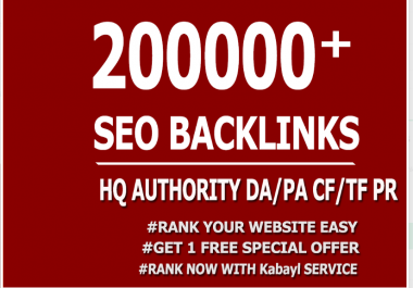 Seo 200,000 Gsa Dofollow high Quality backlinks for Google First page With High DA,PA,TF
