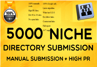 Add 5000 Directory Submission SEO Backlinks With DA-PA-TF,100-40
