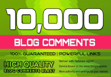 Add 5000 HQ Blog Comments Backlinks On Actual Page With High DA-PA-TF 100-60