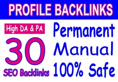 Manual 30 SEO Backlinks From 50+ 100 DA domains best SEO HELP fast indexing