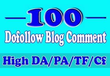 I will do 100 high authority dofollow blog comments, seo backlinks