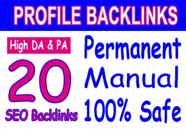 Manual 20 SEO Backlinks From 50+ 100 DA domains best SEO HELP fast indexing