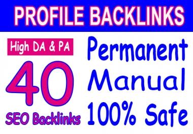 Manually done - 40 SEO Backlinks - DA 50+ 100 - best SEO HELP for fast ranking