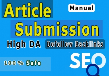 60 Dofollow backlinks from article Submission only most Relevant content used
