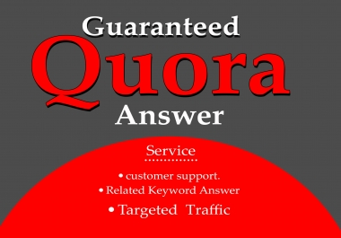 DO 10 HG Quora Answer with promote Your Website/Business .