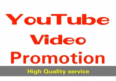firstly YouTube Video Marketing Promotion