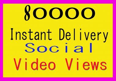 Add 80000+ World Wide Video Promotion Social media