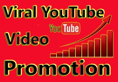 Super fast Non drop YouTube video Promotion