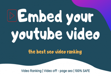 embed your youtube video in web 2.0 blogs for best seo video ranking
