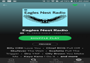 Submit Your Song to Eagle's Nest Radio