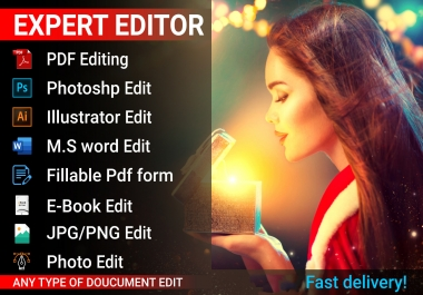 I will edit/replace your document or any graphic design template professionally