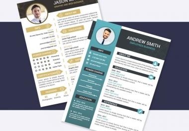 Make professional cv, resume and portfolio design