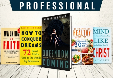 I will create professional book cover design or ebook cover